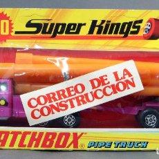 Coches a escala: CAMIÓN TRANSPORTE TUBOS PIPE TRUCK MATCHBOX SUPER KINGS LESNEY K 9 MADE IN ENGLAND AÑOS 70 CON CAJA. Lote 121140907