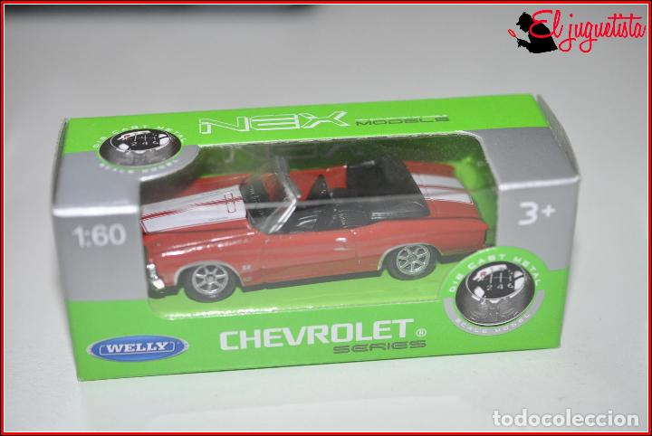 Nex Coches 1 60 Chevelle Tx 349 Escala Chevrolet Welly RLA54j