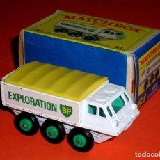 Coches a escala: ALVIS STALWART BP EXPLORATION REF. 61-B, METAL ESC 1/75, LESNEY MATCHBOX ENGLAND, AÑO 1966. CON CAJA. Lote 122225627