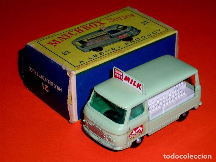 Coches a escala: Commer Milk Bottle Float ref. 21-C, metal esc 1/75, Lesney Matchbox England, año 1961. Con caja. - Foto 2 - 122233127