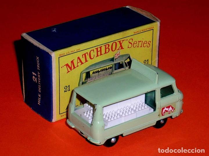 Coches a escala: Commer Milk Bottle Float ref. 21-C, metal esc 1/75, Lesney Matchbox England, año 1961. Con caja. - Foto 5 - 122233127