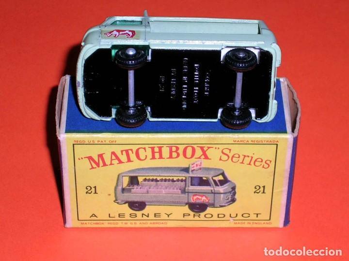 Coches a escala: Commer Milk Bottle Float ref. 21-C, metal esc 1/75, Lesney Matchbox England, año 1961. Con caja. - Foto 6 - 122233127