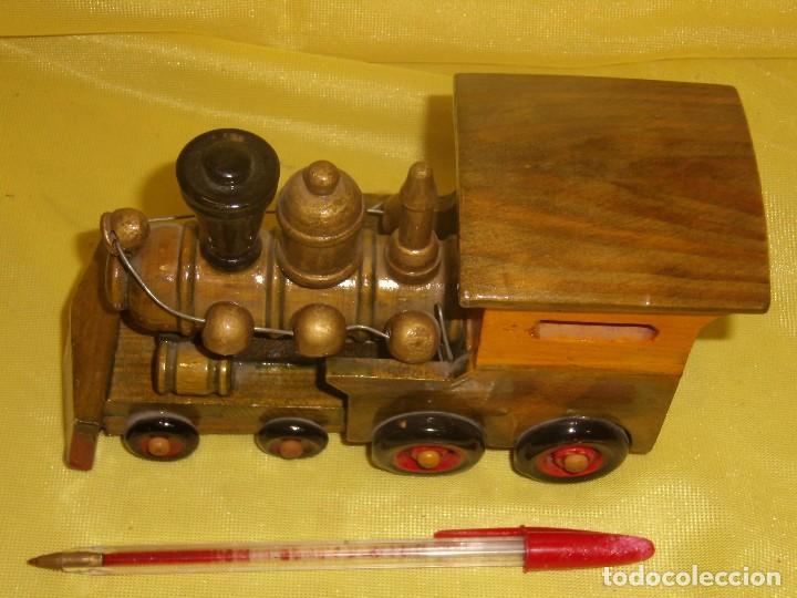 Coches a escala: Locomotora tren madera, años 80, Nueva. - Foto 2 - 122263723