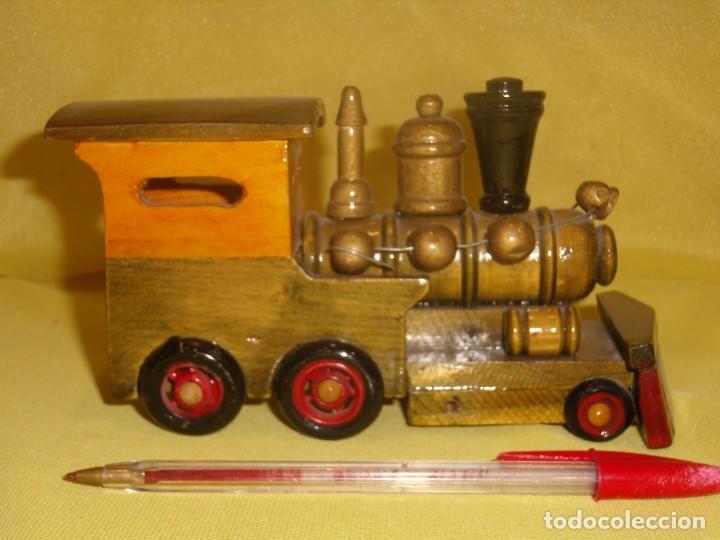Coches a escala: Locomotora tren madera, años 80, Nueva. - Foto 4 - 122263723