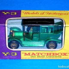Coches a escala: 1910 BENZ LIMOUSINE Y-3, METAL ESC 1/54, LESNEY MATCHBOX MODELS OF YESTERYEAR, AÑO 1966. CON CAJA.. Lote 122274227