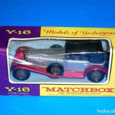 Coches a escala: 1928 MERCEDES SS COUPÉ Y-16, METAL ESC 1/45, LESNEY MATCHBOX MODELS OF YESTERYEAR, AÑOS 60. CON CAJA. Lote 122278287