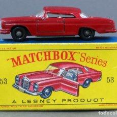Coches a escala: MERCEDES BENZ COUPE MATCHBOX LESNEY Nº 53 CON CAJA AÑOS 50 - 60. Lote 122550887