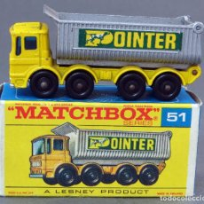 Coches a escala: CAMIÓN ERGOMATIC CAB WHEEL TIPPER MATCHBOX LESNEY Nº 51 CON CAJA 1969. Lote 122563767