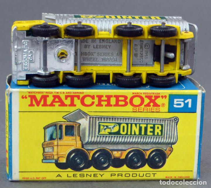 Coches a escala: Camión Ergomatic Cab Wheel Tipper Matchbox Lesney nº 51 con caja 1969 - Foto 4 - 122563767
