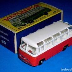 Coches a escala: MERCEDES COACH BUS REF. 68-B, METAL ESC 1/75, LESNEY MATCHBOX ENGLAND, AÑO 1965. CON CAJA.. Lote 123549607