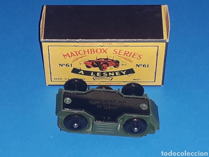 Coches a escala: Ferret Scout tanqueta militar ref. 61-A, metal esc 1/87, Lesney Matchbox England, año 1959. Con caja - Foto 5 - 126255523