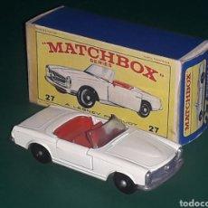 Coches a escala: MERCEDES 230 SL REF. 27-D, METAL ESC. 1/65, LESNEY MATCHBOX ENGLAND, AÑO 1966. CON CAJA.. Lote 126312099