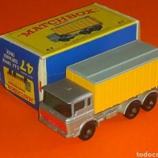 Coches a escala: DAF TIPPER CONTAINER TRUCK REF. 47-C, METAL ESC. 1/100, LESNEY MATCHBOX ENGLAND, AÑO 1968. CON CAJA.. Lote 126341527