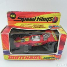 Coches a escala: COCHE CARRERAS LIGHTNING K-35, LESNEY MATCHBOX SPEED KINGS, MADE IN ENGLAND 1971, MIDE 11 CMS. EN SU. Lote 126934343