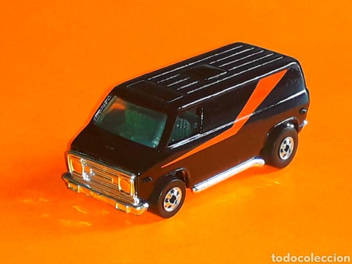 Coches a escala: GMC Van The A-Team, El Equipo A, metal, esc. aprox. 1/65, Hot wheels 1ª serie, original años 80. - Foto 2 - 127551916