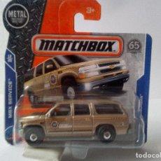 Coches a escala: CHEVI SUBURBAN 00-SHERIFF-MATCHBOX-NUEVO. Lote 132718138