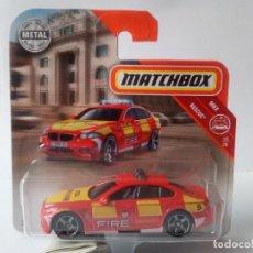 Coches a escala: BMW M5 RESCUE FIRE-MATCHBOX-NUEVO. Lote 132718283