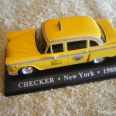 Coches a escala: TAXI NUEVA YORK AMARILLO CHECKER 1980. Lote 210420402