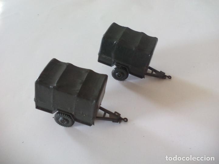 Coches a escala: ROCO. made in AUSTRIA. 2 remolques, de camión coche militar. miniatura, maqueta, modelismo. - Foto 2 - 132587138