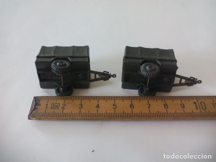 Coches a escala: ROCO. made in AUSTRIA. 2 remolques, de camión coche militar. miniatura, maqueta, modelismo. - Foto 4 - 132587138