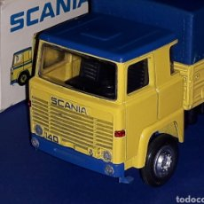 Coches a escala: CAMIÓN SCANIA LBS 140 REF 203, METAL ESC. 1/50, NACORAL TIPO TEKNO MADE IN SPAIN, AÑOS 70. CON CAJA. Lote 133866354