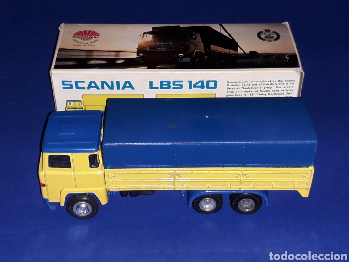 Coches a escala: Camión Scania LBS 140 ref 203, metal esc. 1/50, Nacoral tipo Tekno made in Spain, años 70. Con caja - Foto 3 - 133866354