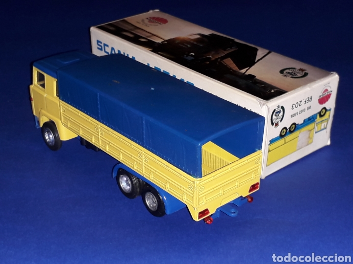 Coches a escala: Camión Scania LBS 140 ref 203, metal esc. 1/50, Nacoral tipo Tekno made in Spain, años 70. Con caja - Foto 4 - 133866354
