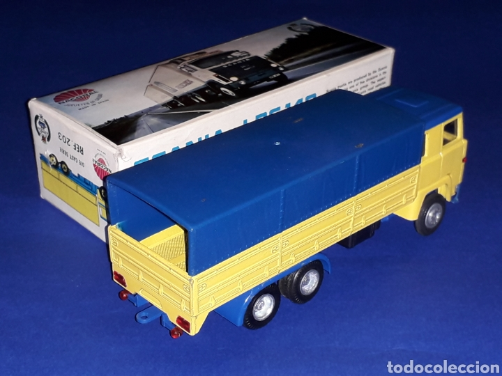 Coches a escala: Camión Scania LBS 140 ref 203, metal esc. 1/50, Nacoral tipo Tekno made in Spain, años 70. Con caja - Foto 5 - 133866354