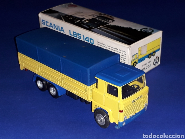 Coches a escala: Camión Scania LBS 140 ref 203, metal esc. 1/50, Nacoral tipo Tekno made in Spain, años 70. Con caja - Foto 6 - 133866354