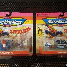 Coches a escala: JUGUETES - MICRO MACHINES - SPIDERMAN - COLLECTION LOT MARVEL GALOOB - 1993. Lote 134531078