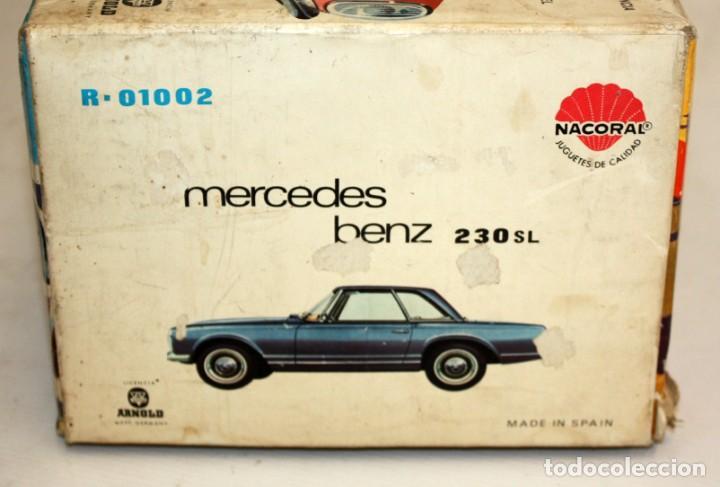 Coches a escala: MERCEDES BENZ 230 SL. ELECTRICO DIRIGIDO. MARCA NACORAL (ARNOLD). AÑOS 60. - Foto 4 - 135560158