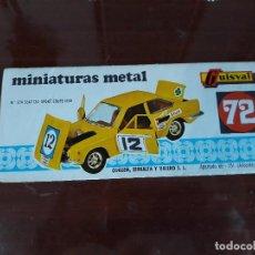 Coches a escala: GUISVAL-CATALOGO AÑO 72-DESPLEGABLE-MUY RARO!!!!. Lote 136205066