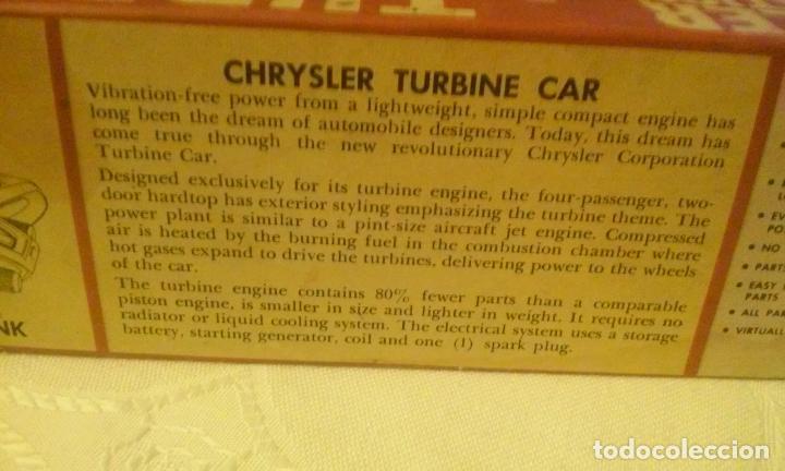 Coches a escala: COCHE CHRYSLER CORPORATION MODELO TURBINE CAR -SCALE ESCALA 1/25- POR JO-HAN (AÑOS 60) - Foto 7 - 137175278