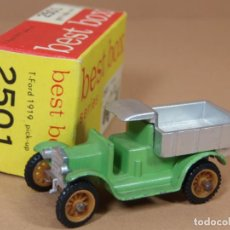 Coches a escala: ANTIGUO BEST BOX 2501 EFSI FORD MODELO T 1919 PICK UP MADE IN HOLLAND 1960S ORIGINAL. Lote 138717414