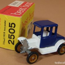 Coches a escala: ANTIGUO BEST BOX 2505 EFSI FORD MODELO T 1919 TWO SEATER MADE IN HOLLAND 1960S ORIGINAL. Lote 138718310