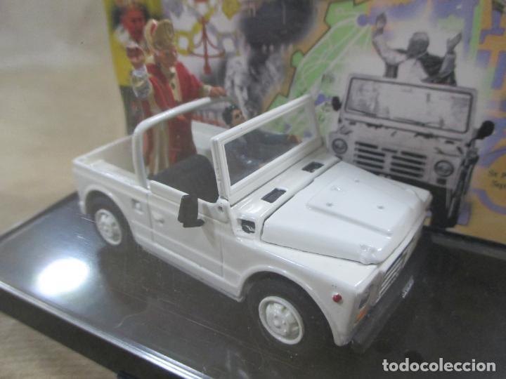 Coches a escala: ANTIGUO COCHE DE METAL. FIAT CAMPAGNOLA. OLD CARS. ITALY. 1/43. PAPAMÓVIL CON MINIATURAS. 9 CM - Foto 2 - 138744058