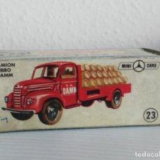 Coches a escala: ANTIGUO COCHE ANGUPLAS MINI CARS Nº 23 CAMION ESTRELLA DAMM EBRO. Lote 138753086