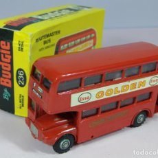 Coches a escala: VINTAGE BUDGIE AEC DOBLE BUS LONDRES ESSO 1960S MADE IN ENGLAND DIECAST METAL DINKY. Lote 138898446