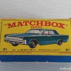 Coches a escala - ANTIGUO COCHE DE MATCHBOX Nº 31 LINCOLN CONTINENTAL - 139059398
