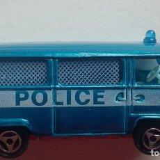 Coches a escala: MAJORETTE Nº 244. FURGÓN DE POLICIA VW ESCALA 1/60. AÑOS 80 EXCELENTE ESTADO. Lote 139342138