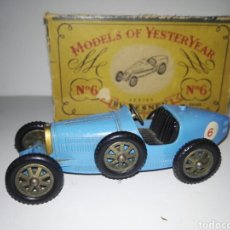 Coches a escala: MATCHBOX YESTERYEAR Y6 1926 SUPERCHARGED BUGATTI 35 BY LESNEY RARE. Lote 140059452