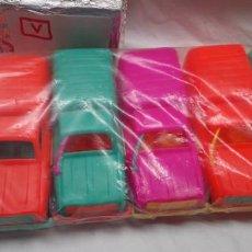 Coches a escala: 6 RENAULT 4 FURGONETA DE PLASTICO , MICROPLAS TIK ... RING. Lote 140192002