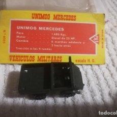 Coches a escala: EKO VEHÍCULO MILITAR UNIMOG MERCEDES ESC. HO, MADE IN SPAIN REF. 4005. Lote 141580718