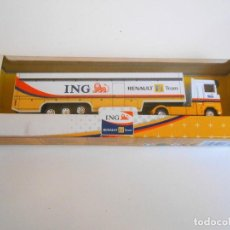 Coches a escala: CAMION ING RENAULT TEAM F1 1/87 1:87 TRUCK DIE CAST NEW RAY TOYS 2007 LORRY. Lote 141678106