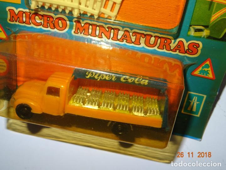 Coches a escala: Antiguo Blister sin Abrir con Camión MAGIRUS DEUTZ de PIPER COLA con Vallas en Escala 1/86 de EKO - Foto 2 - 141887486