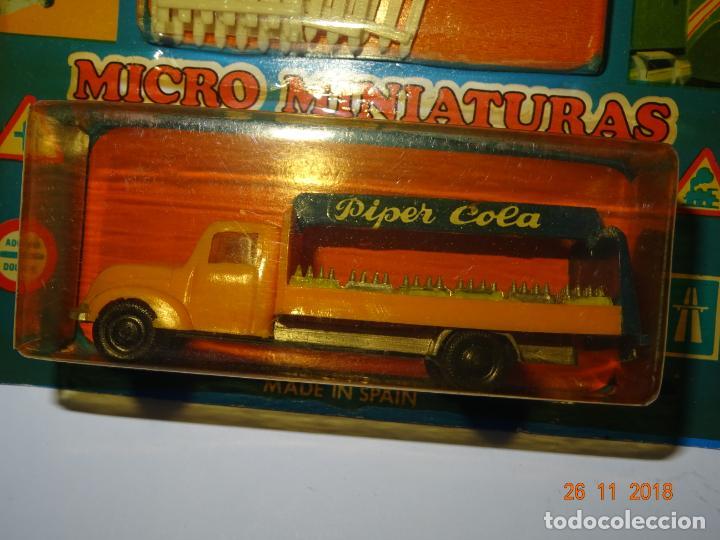 Coches a escala: Antiguo Blister sin Abrir con Camión MAGIRUS DEUTZ de PIPER COLA con Vallas en Escala 1/86 de EKO - Foto 4 - 141887486