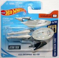 Coches a escala: HOTWHEELS HOT WHEELS USS ENTERPRISE NCC 1701 NEW. Lote 262591290