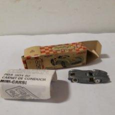 Coches a escala: ANGUPLAS MINICARS MERCEDES BENZ 300 SLR EN CAJA Y CATALOGO. Lote 144345278