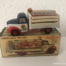 Coches a escala: MINI CARS ANGUPLAS CAMION EBRO PEPSI COLA EN SU CAJA. Lote 144760794