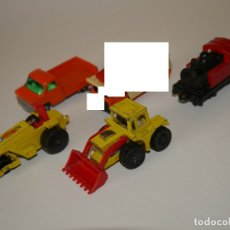 Coches a escala: LOTE MATCHBOX 4X COCHES SUPERFAST: ROD ROLLER, TRACTOR SHOVEL, FORD TRANSIT.... Lote 57792102